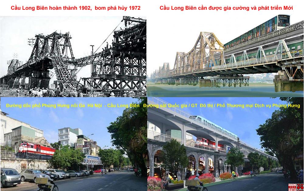 Giải cứu cầu Long Biên, dư ra tiền xây phố Phùng Hưng mới