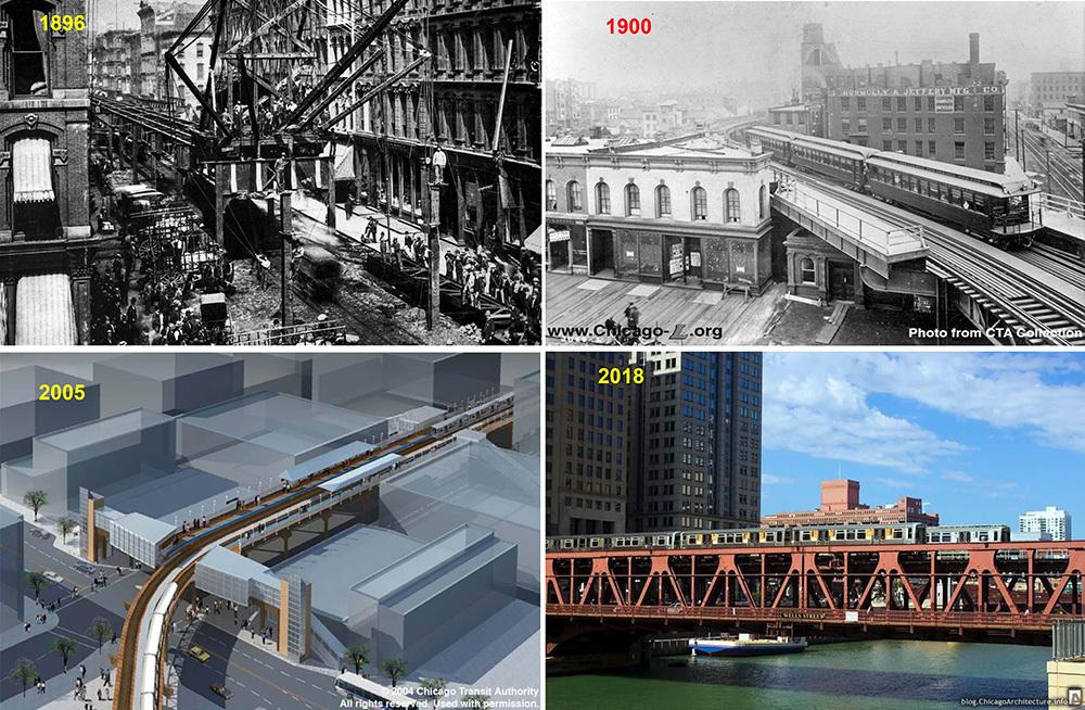 Cầu Wells-Street trong tuyến  Blue Line thành phố Chicago (Mỹ)