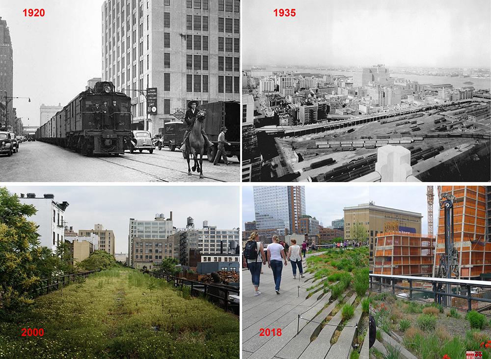 Cầu cạn High Line ở New York (Mỹ)
