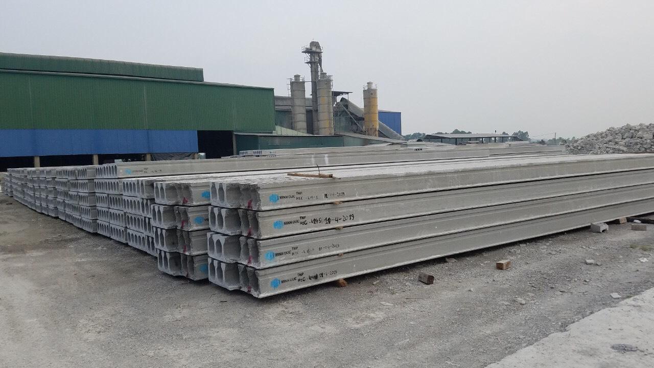 Cát nhân tạo sử dụng trong các cấu kiện bê tông của nhà máy Minh Đức thuộc Tổng công ty Sơn Trường Hải Phòng