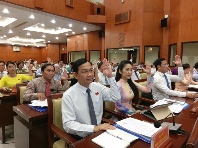 Các đại biểu HĐND TP HCM thống nhất thông qua tờ trình