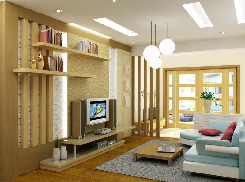 Để tạo cảm giác mới lạ cho không gian phòng khách bằng cách sử dụng những thanh gỗ được đặt song song với nhau