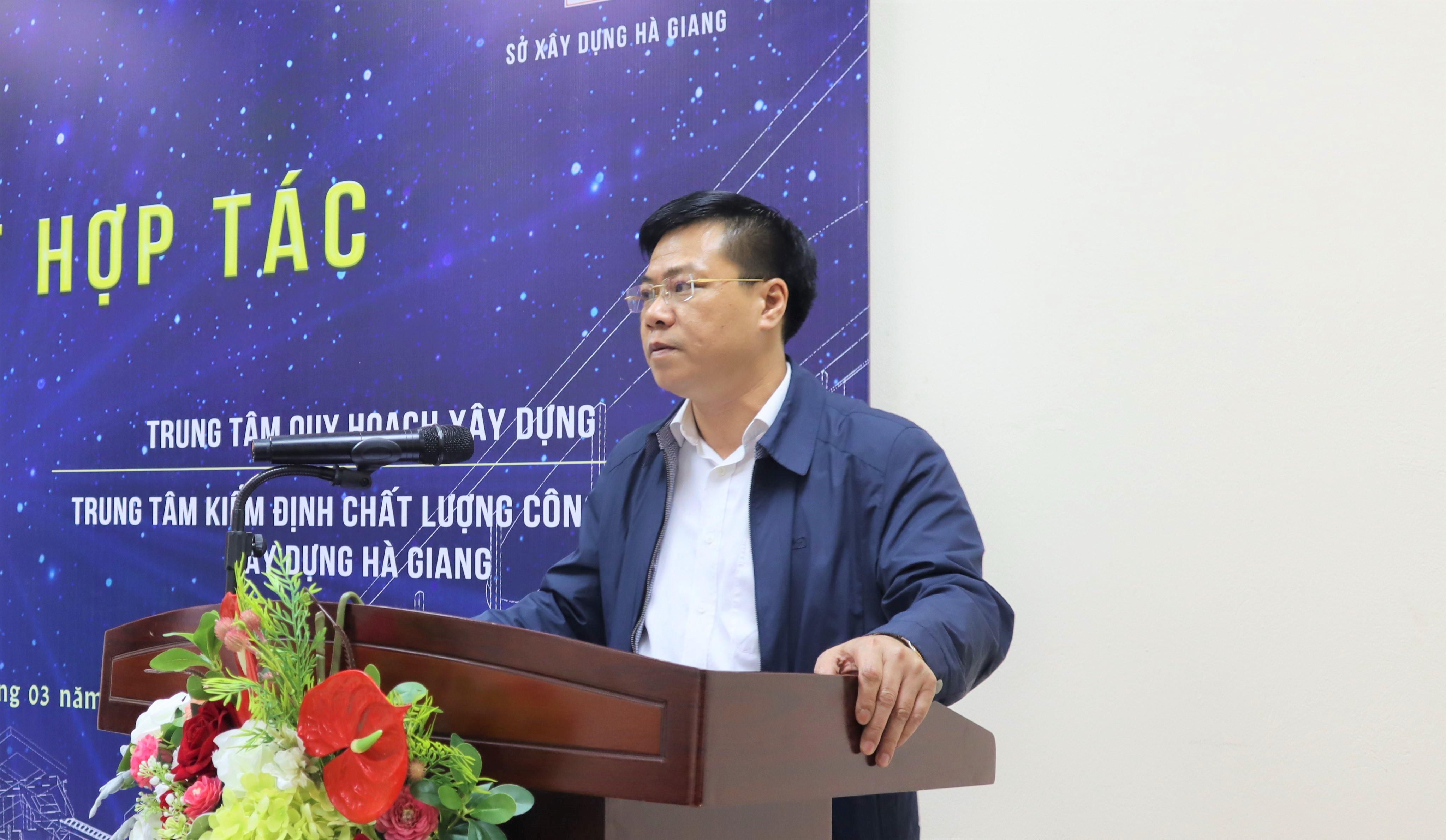 Ông Nguyễn Tiến Dũng - Giám đốc Sở Xây dựng Hà Giang