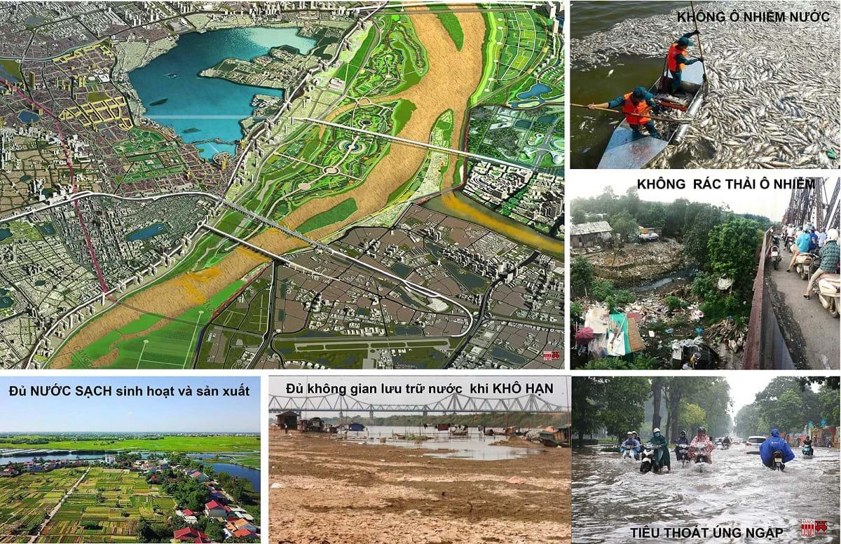 Ước muốn sông Hồng có nhiều cầu, đường và công viên… nhưng dòng sông này còn phải gánh vác nhiều nhiệm vụ và đối mặt nhiều thách thức. Ảnh tư liệu sưu tầm
