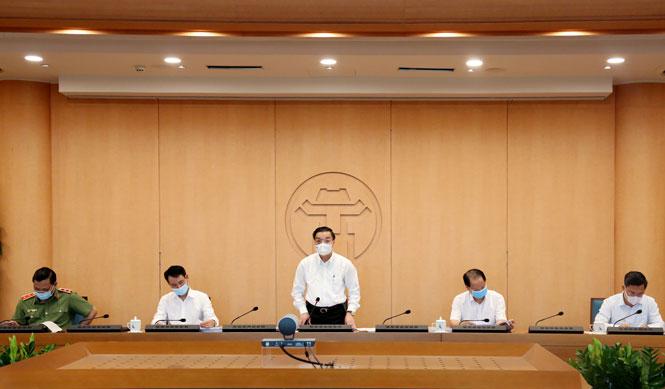 Ủy viên Trung ương Đảng, Phó Bí thư Thành ủy, Chủ tịch UBND thành phố Chu Ngọc Anh - Trưởng ban Chỉ đạo chủ trì cuộc họp