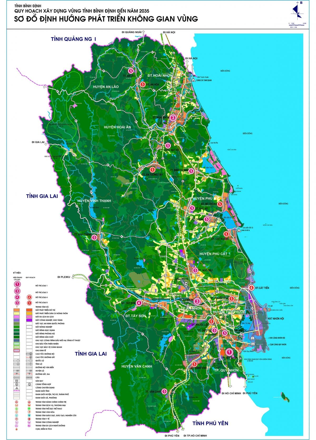Quy hoạch xây dựng vùng tỉnh Bình Định đến năm 2035 - Sơ đồ định hướng phát triển không gian vùng