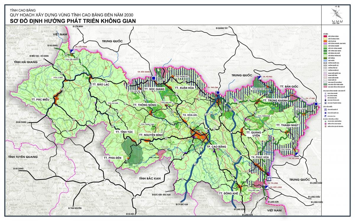 Quy hoạch xây dựng vùng tỉnh Cao Bằng đến năm 2030 - Sơ đồ định hướng phát triển không gian