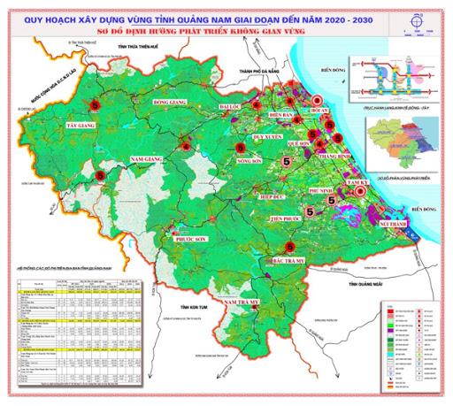 Quy hoạch xây dựng vùng tỉnh Quảng Nam giai đoạn 2020-2030 Sơ đồ định hướng phát triển không gian vùng