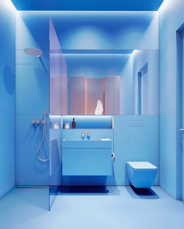 Không gian nhà vệ sinh mang lại cảm giác hiện đại.