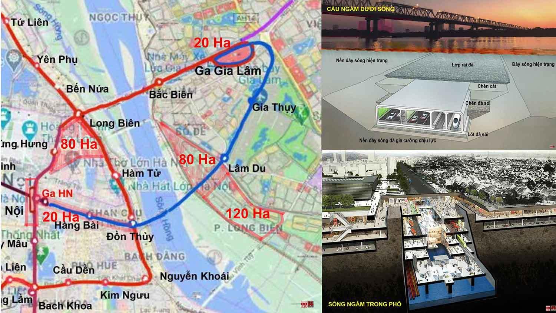 """Đề xuất của City Solution: Quy hoạch tích hợp đa ngành """"Cầu ngầm dưới sông/sông ngầm trong phố"""" và không gian phát triển đôi bờ sông Hồng"""