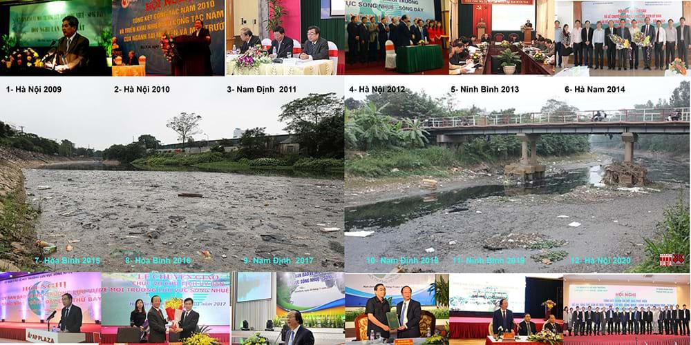 Ủy ban bảo vệ môi trường sông Nhuệ - Đáy nhóm họp 12 lần trong 12 năm: sông Nhuệ ngày càng ô nhiễm hơn. Ảnh tư liệu