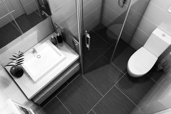 Một nhà vệ sinh có diện tích trung bình vừa đủ, không quá chật thường khoảng 4m2. (Ảnh minh hoạ)