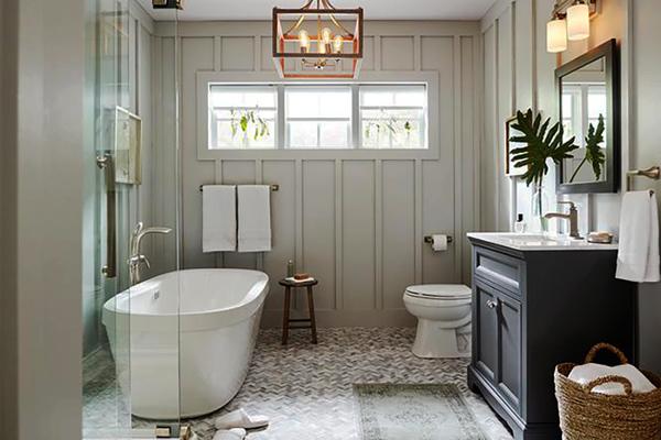 Qua rồi thời nhà vệ sinh chỉ cần sáng đủ, với xu hướng hiện đại hoá nội thất thì cũng cần sáng đẹp