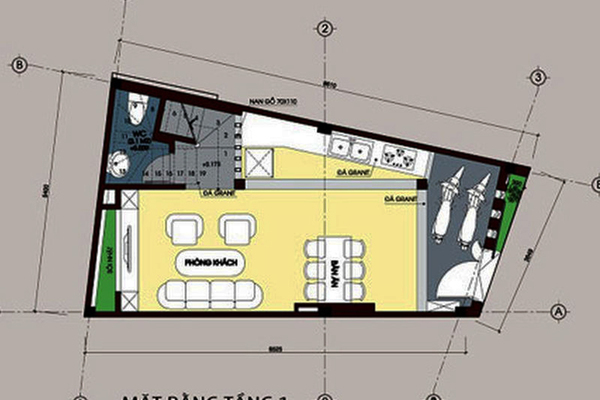 Nhà vệ sinh được bố trí ở góc một căn nhà phố. (Ảnh minh hoạ)