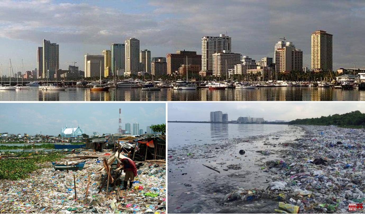 Hai khuôn mặt của Manila: Những dự án bất động sản phát triển bên bờ biển và rác thải tràn ngập bờ biển vốn không còn sự sống, không có bãi tắm biển tại Manila