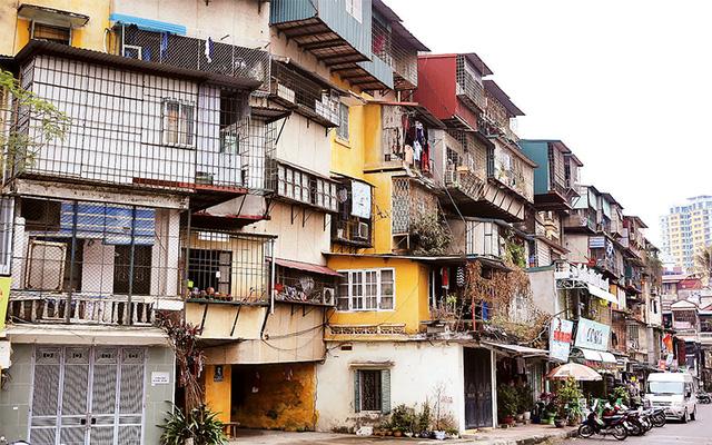 Các nhà chung cư cũ hiện nay tập trung chủ yếu trong các khu vực nội đô