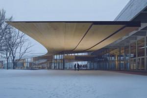 Thư viện uốn cong có kiến trúc độc đáo tại Na Uy
