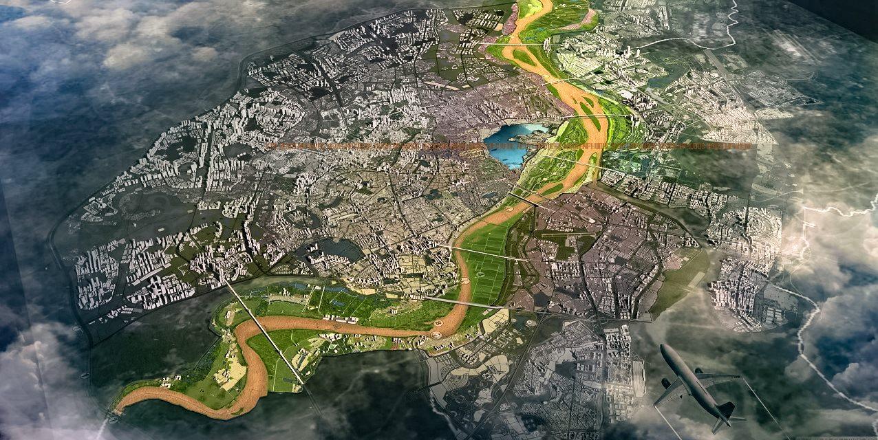 Tổng quan quy hoạch không gian hai bên Sông Hồng