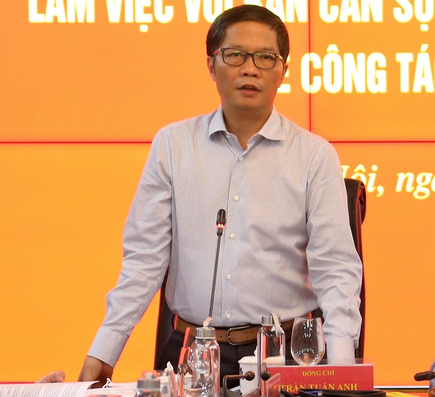 Trưởng Ban Kinh tế Trung ương Trần Tuấn Anh: Cần nỗ lực cố gắng vào cuộc với quyết tâm cao nhất để hoàn thành tốt nhiệm vụ tổng kết nghị quyết có ý nghĩa quan trọng này - Ảnh:VGP