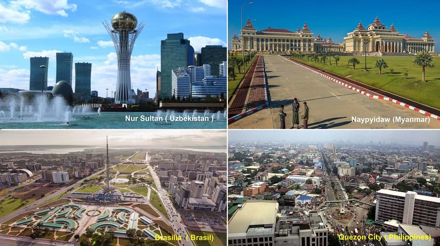 Hình ảnh các thủ đô mới. Ảnh sưu tầm
