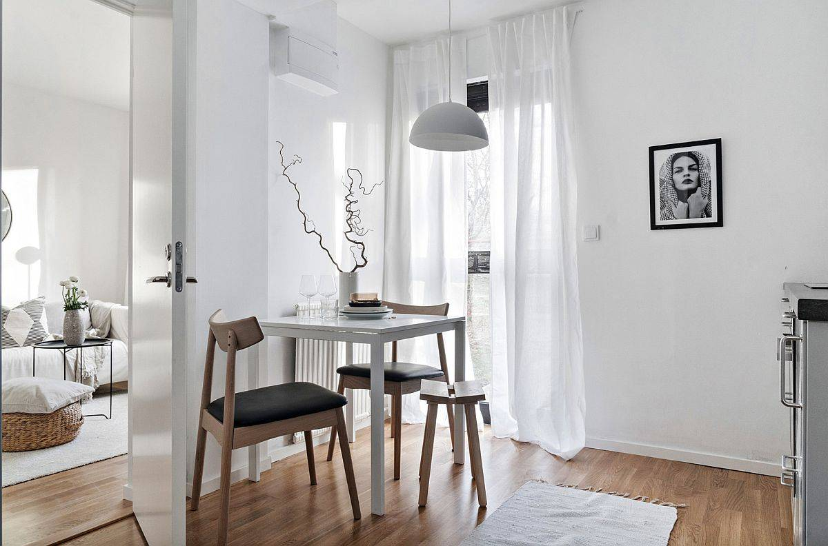 Không gian ăn uống siêu nhỏ trong ngôi nhà Scandinavian