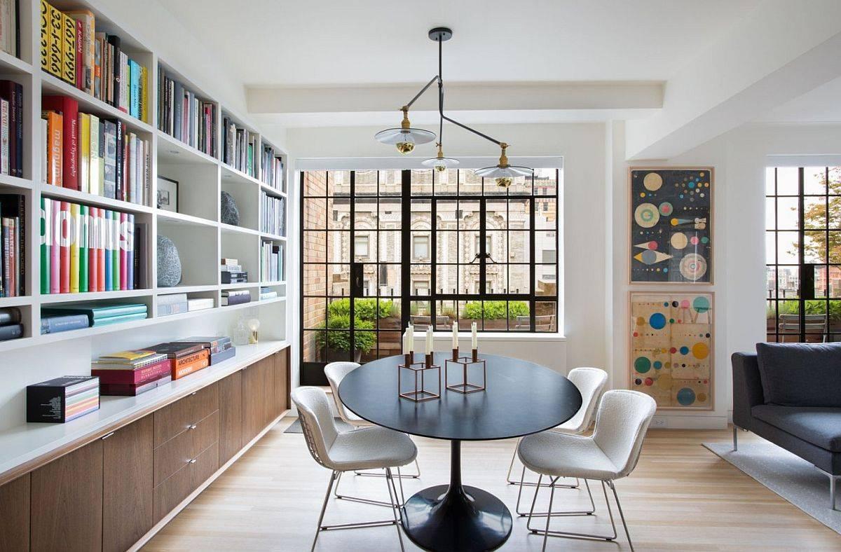 Căn hộ style SoHo với phòng ăn nhỏ thông minh và phong cách