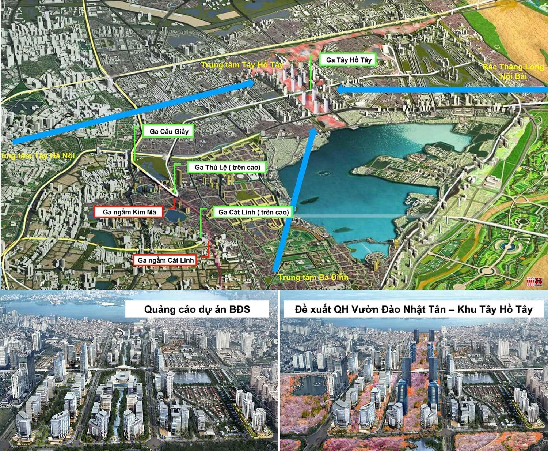 Quy hoạch khu 35ha Tây Hồ Tây  - trụ sở 12 bộ, ngành cần tận dụng lợi thế cảnh quan hạ tầng để gia tăng giá trị công sản tương tự như đề xuất của các dự án bất động sản là chia lô bán nền đầu tư thấp bán giá cao hoặc khai thác tối đa diện tích sàn tầng cao để tối đa hóa lợi nhuận