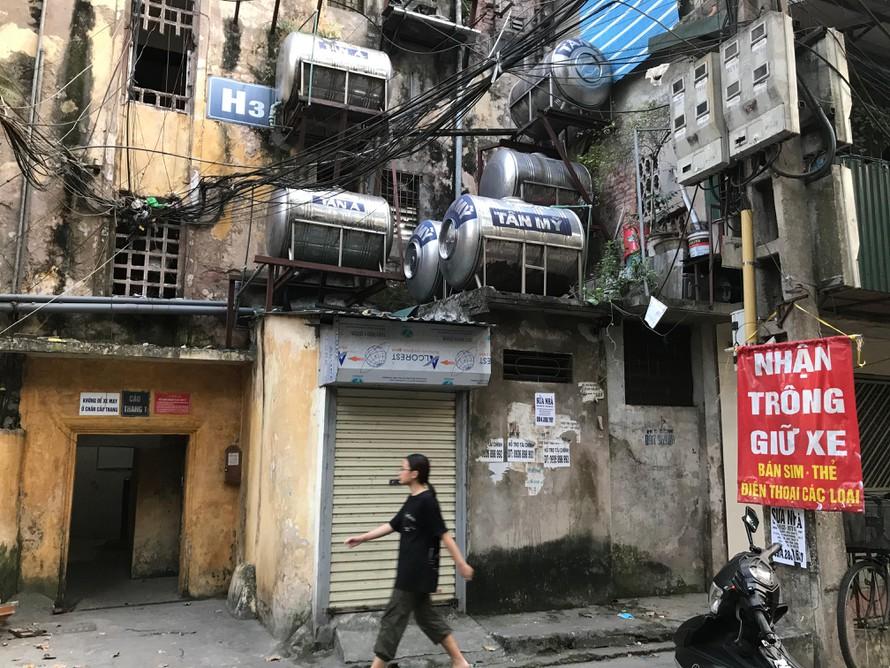 Hiện trạng chung cư cũ Nguyễn Công Trứ