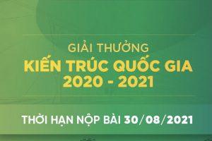 Thông báo số 3 Giải thưởng Kiến trúc Quốc gia 2021