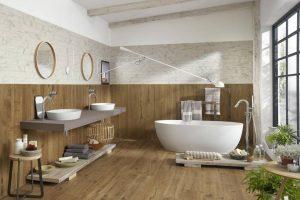Làm mới phòng tắm với gạch gỗ (P2)