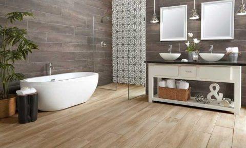 Làm mới phòng tắm với gạch gỗ (P1)