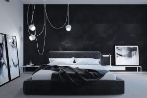 Những mẫu phòng ngủ màu đen vô cùng quyến rũ và ấn tượng