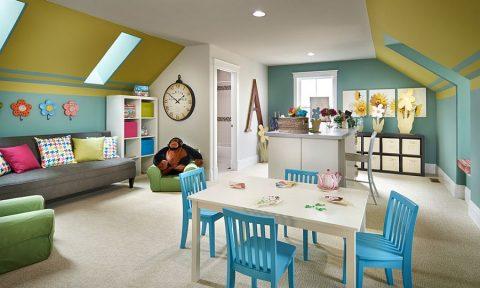 Khám phá nhiều điều thú vị trong nhà với ý tưởng phòng vui chơi trên gác mái