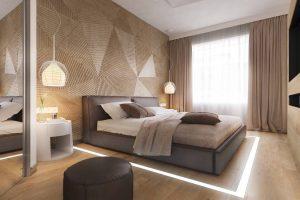 Tăng thẩm mỹ cho phòng ngủ nhờ vách gỗ ốp tường (P1)